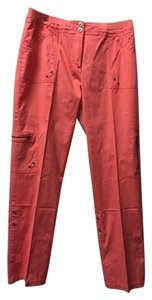 Chico's Capris Cargo Cropped Capri/Cropped Pants Orange