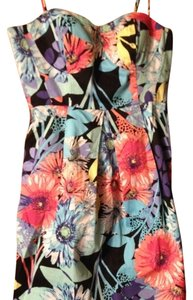 Candie's short dress multicolored Floral Fitted Sundress on Tradesy
