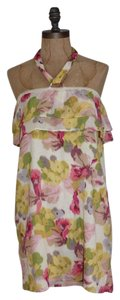 J.Crew short dress MULTI-COLOR Halter Floral Print on Tradesy