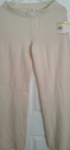 JLo Mohair Soft Flare Pants Cream