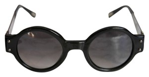 Lanvin Lanvin SLN512S Black Round Metal Swarovski Jeweled Sunglasses
