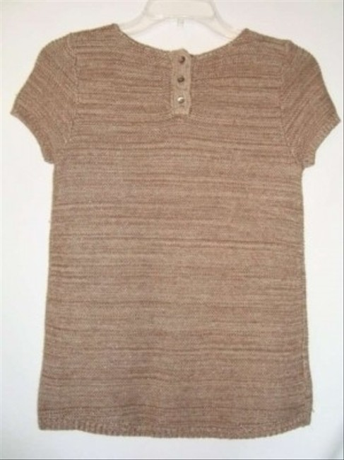 Ann Taylor LOFT Gold Short Sleeve Metallic Sweater