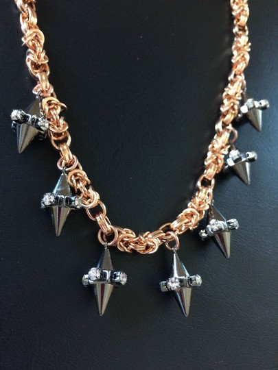 BaubleBar NWOT Baublebar Double Cone Collar Necklace Chains Spikes crystals