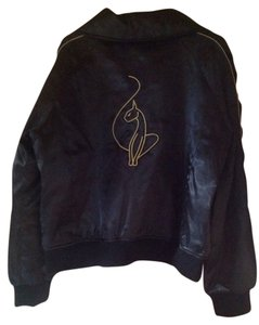 Baby Phat Varsity Satin Black Jacket