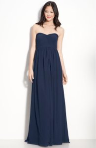 Jenny Yoo Navy Blue Jenny Yoo 'aidan' Convertible Strapless Chiffon Gown Dress
