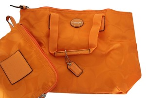 Coach Tangerine Travel Bag