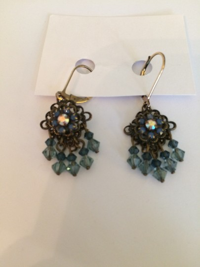 Other 14K Gold Filled Chandelier Earrings with Blue Stones
