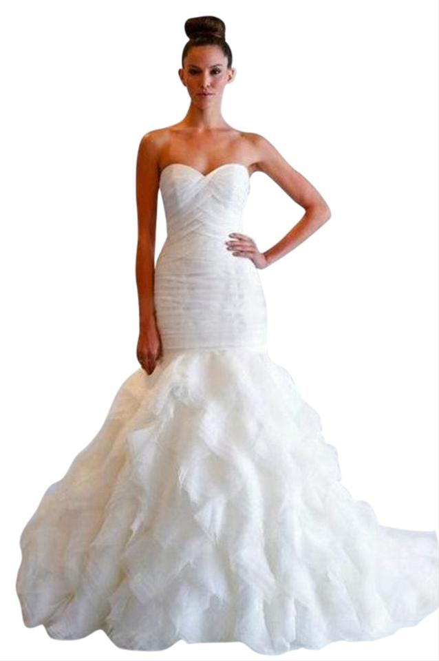 Dennis basso ivory organza kleinfeld mermaid sweetheart for Kleinfeld mermaid wedding dresses