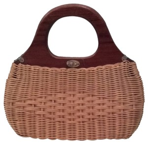 Vintage Other Wicker Beach Clutch Tan Clutch