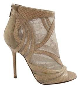 Jimmy Choo Lace Nude Boots