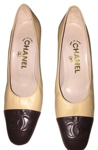 Chanel Cream and Brown Pumps