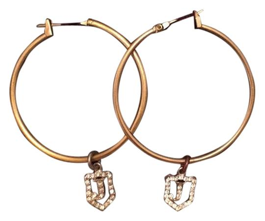 Juicy Couture Juicy couture Gold Hoops with silver studded JC Charms