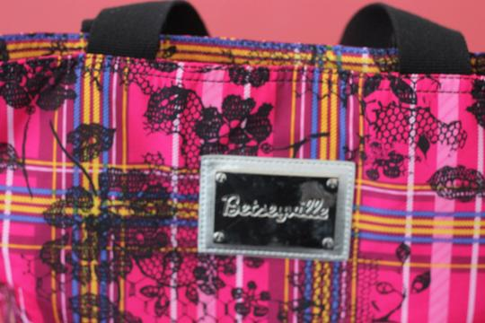 Betsey Johnson Tote in Pink and Black