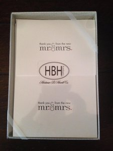 Hortense B. Hewitt White Thank You Cards From The New Mr. & Mrs.