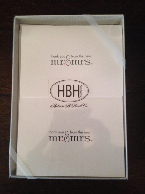 Item - White Thank You Cards From The New Mr. & Mrs.