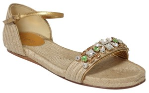 Gucci 339320 Espadrille Espadrille Crystals Naturale Sandals