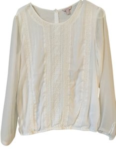 Esprit Lace Sheer Top Off-white