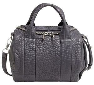 Alexander Wang Studs Leather Satchel in Tundra