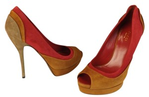 Gucci Cuir/Rosso/Mar.Glace Pumps