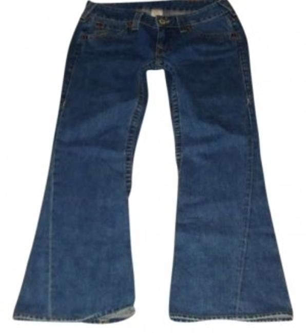 Preload https://item2.tradesy.com/images/true-religion-blue-medium-wash-flared-in-classic-cut-601525-style-w042075e4-relaxed-fit-jeans-size-3-137786-0-0.jpg?width=400&height=650