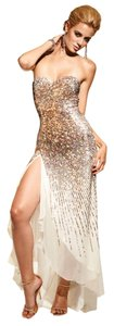 Terani Couture Gold Prom Stunning Dress