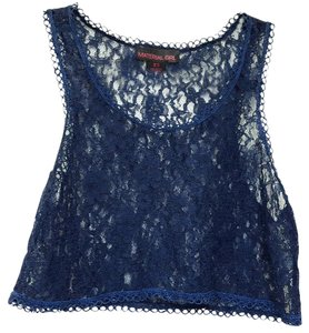 Material Girl Crop Lace Cute Summer Casual Top