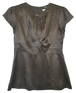 Nanette Lepore Silk Charmeuse Evening Day Top Black