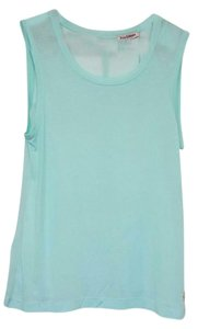 Juicy Couture Designer Mint Cut-out Sheer Top