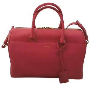 Saint Laurent Yvs Satchel in Fuchsia