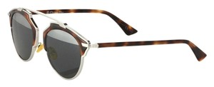 Dior So Real 48mm Mirrored Sunglasses Palladium/Tortoise