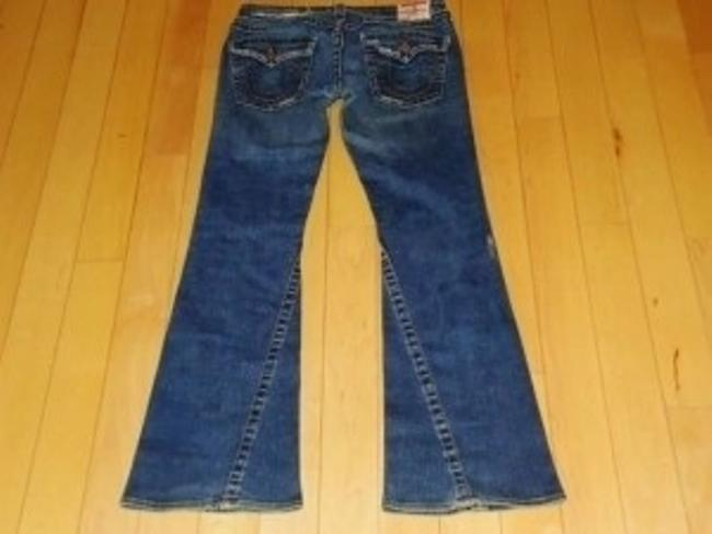 True Religion Joey 99% Cotton 1 % Elastic Distressed Wash Sexy Low Rise With A Perfect Design. Boot Cut Jeans-Distressed