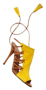 Aquazzura Heels Bootie Stiletto Pump Yellow Sandals