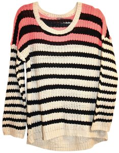 Charlotte Russe Preppy Striped Stripes Knit Contrast Sweater
