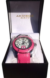 Akribos XXIV Akribos XXIV Women's AK560RD Quartz Multi-Function Genuine Leather Watch