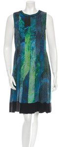 Proenza Schouler Geometric Silk Abstract Dress