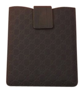 Gucci NAVY GUCCISSIMA RUBERIZED LEATHER WEB 4 1,2,3 IPAD CASE GIFT BOX $320