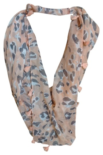 Anthropologie Animal Print Scarf with Tassels