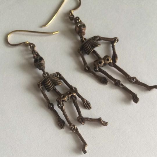 Unknown Skeleton Earrings Halloween