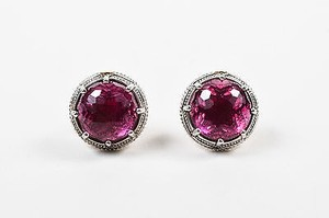 Tacori Tacori Sterling Silver Red Quartz Crystal City Lights Stud Earrings