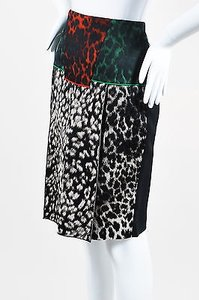 Roland Mouret Black Red Green Skirt Multi-Color
