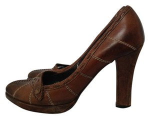 Bottega Veneta Platform Ombre Brown Pumps