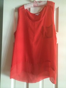 Elerie Top dark coral