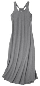 Heather Gray Maxi Dress by Gilligan & O'Malley Built In Support Gown Maxi Sleeveless