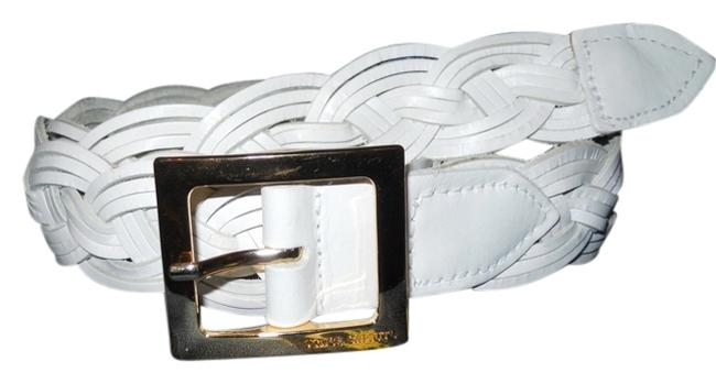 Item - White Braided Leather Belt