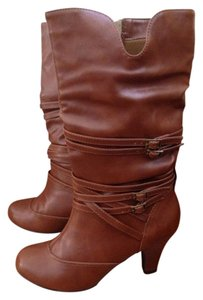 Maurices Zipper Buckle Fall Winter Cognac Boots