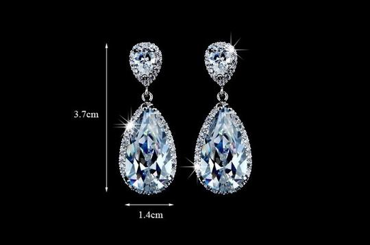 These Sparkly Teardrop Are Perfect For and Special Occasions. Bullet Clasps Are Included. Lead Earrings