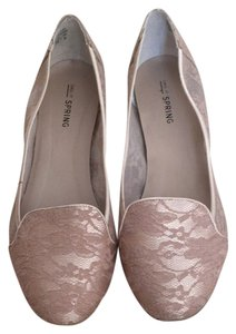 Call It Spring Loafers Lace Nude Flats