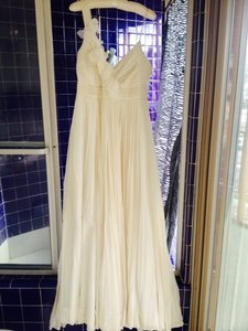 J.Crew Cream Chiffon Dune Feminine Wedding Dress Size 6 (S)