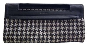 Lancel Black, Brown, Ivory Clutch
