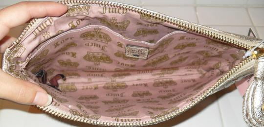 Juicy Couture Luxe Sequins Leather Gold Clutch